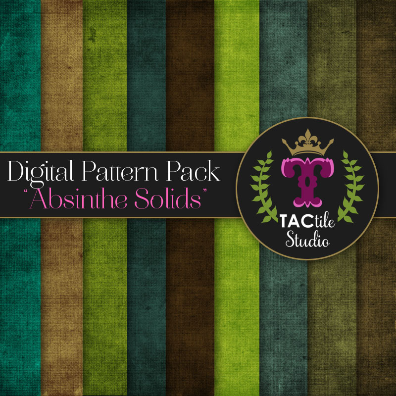 Absinthe Solids Digital Paper Pack