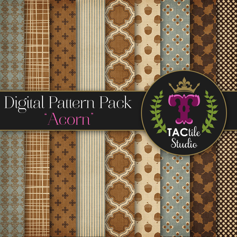 Acorn Digital Paper Pack