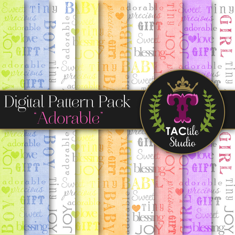 Adorable Digital Paper Pack