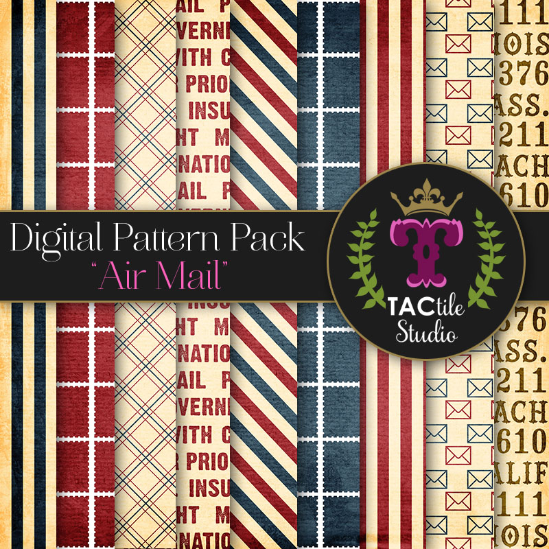Air Mail Digital Paper Pack