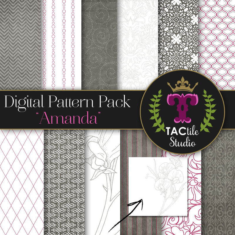 Amanda Digital Paper Pack