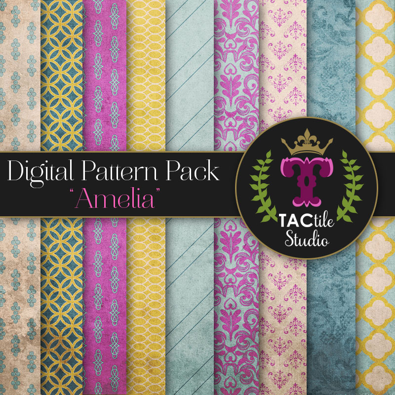Amelia Digital Paper Pack