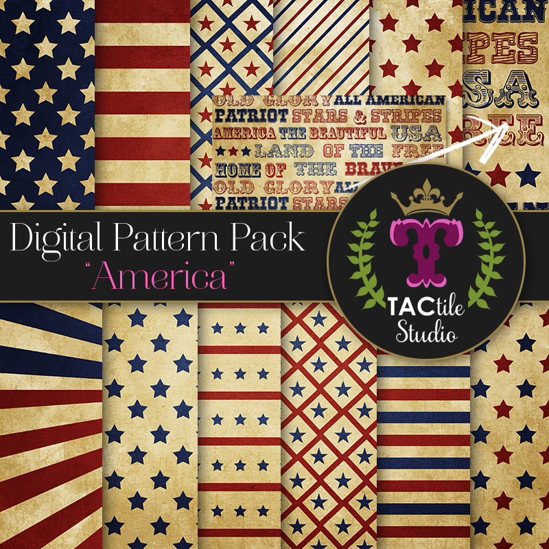 America Digital Paper Pack