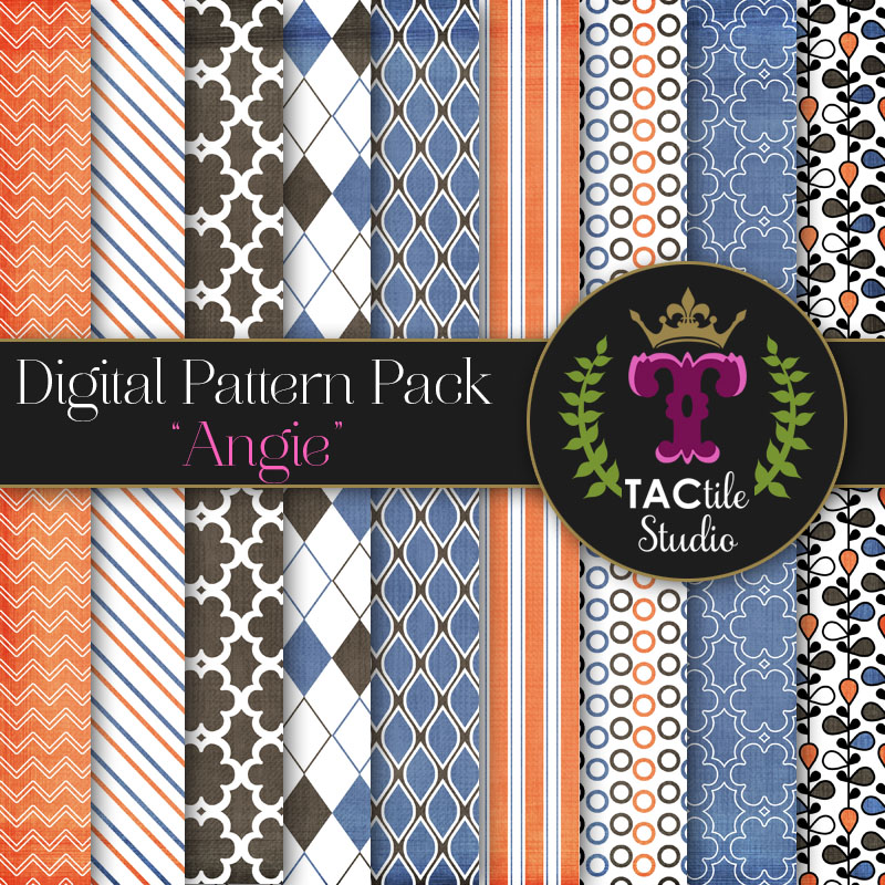 Angie Digital Paper Pack
