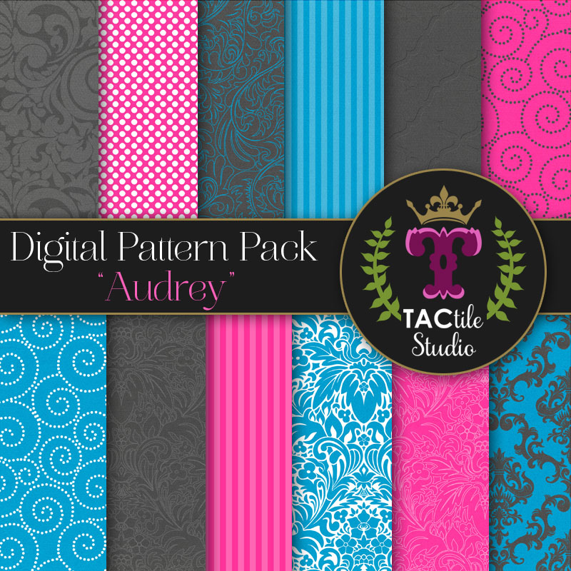 Audrey Digital Paper Pack