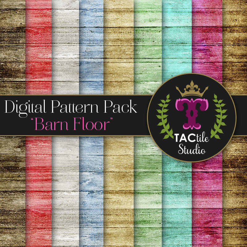 Barn Floor Digital Paper Pack