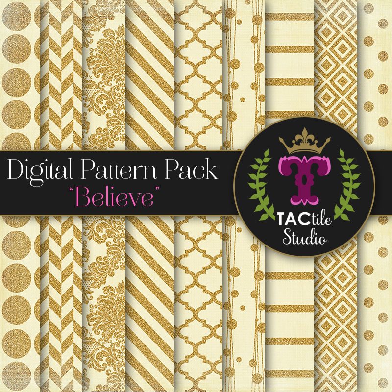 Believe Digital Paper Pack