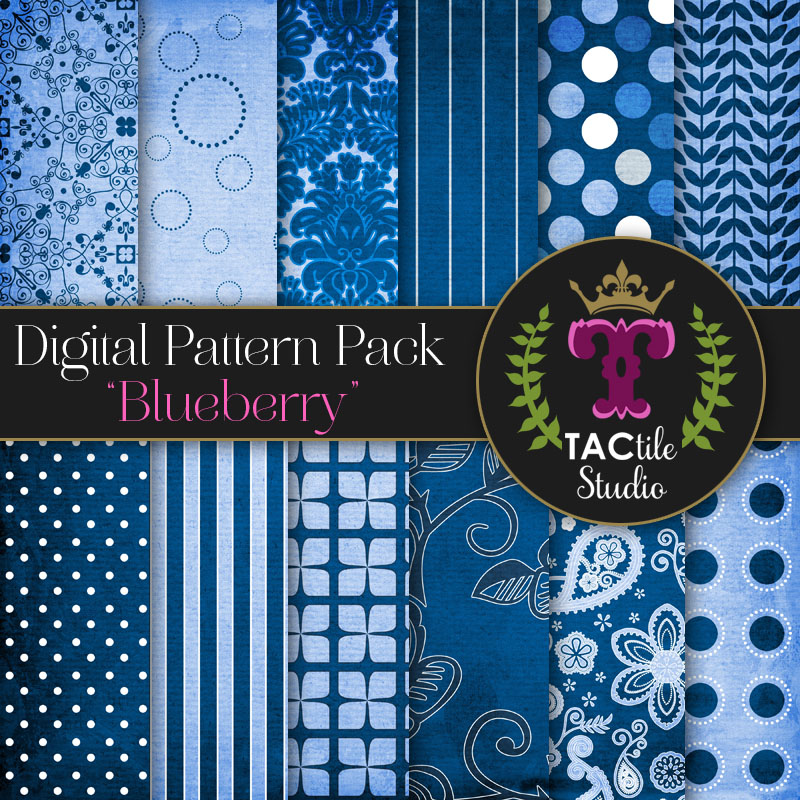 Blueberry Digital Paper Pack