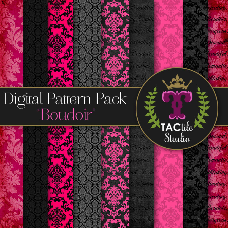 Boudoir Digital Paper Pack