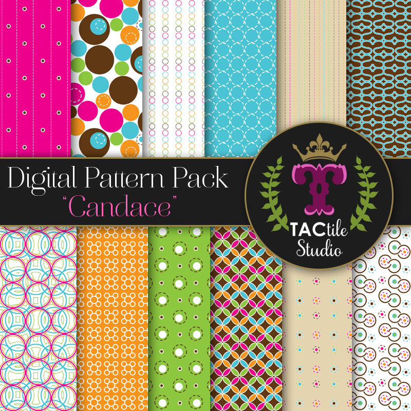 Candace Digital Paper Pack