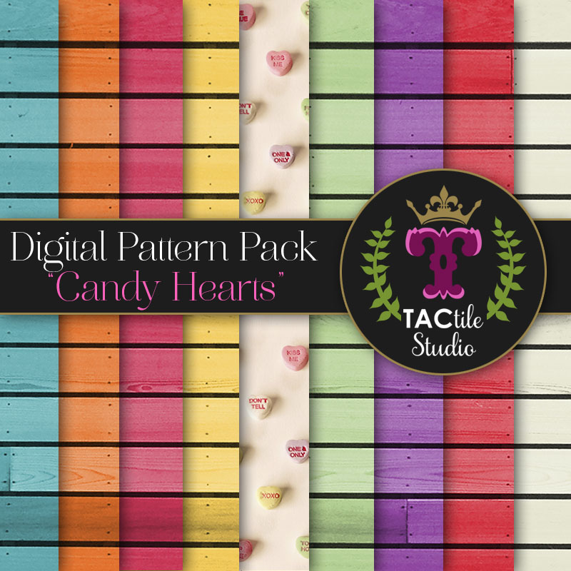 Candy Hearts Digital Paper Pack