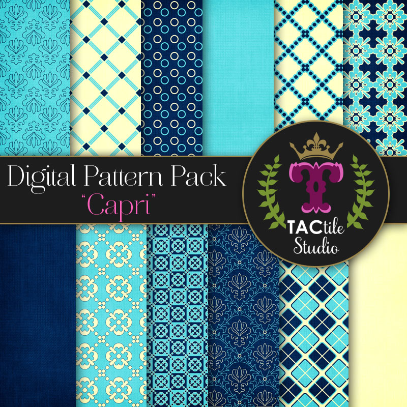 Capri Digital Paper Pack