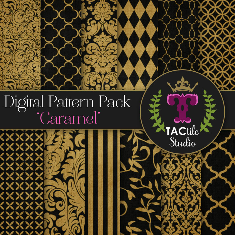 Caramel Digital Paper Pack