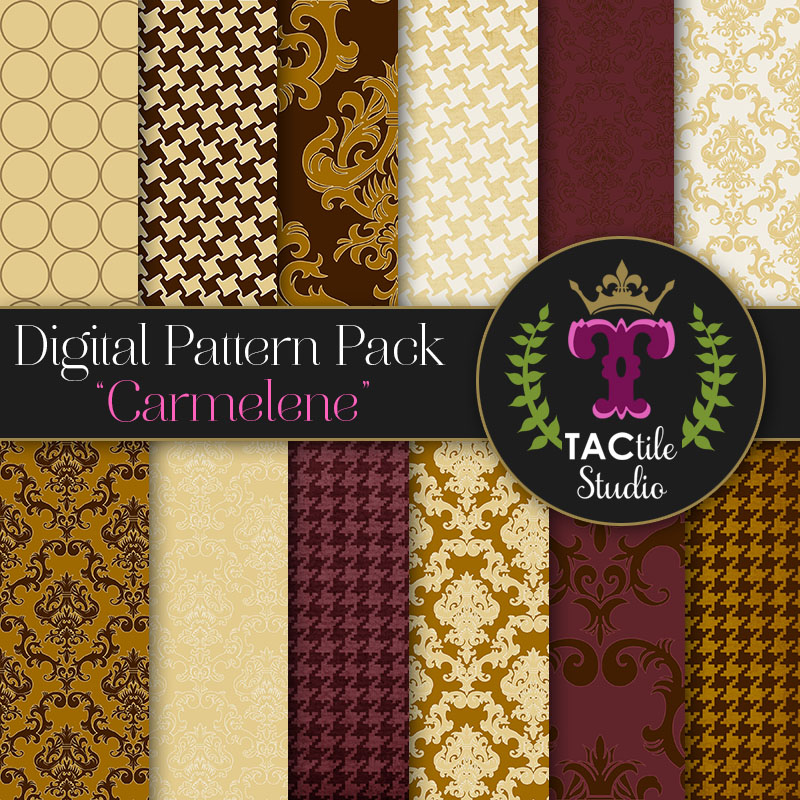 Carmelene Digital Paper Pack