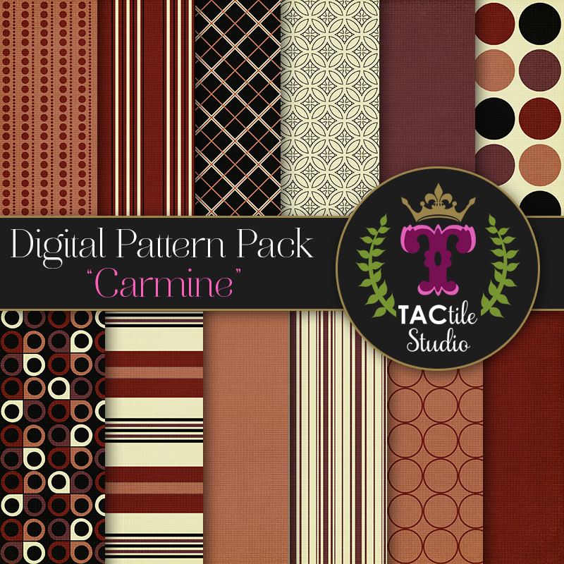 Carmine Digital Paper Pack