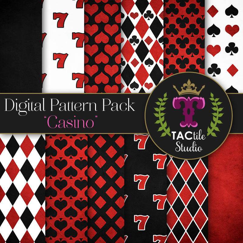 Casino Digital Paper Pack