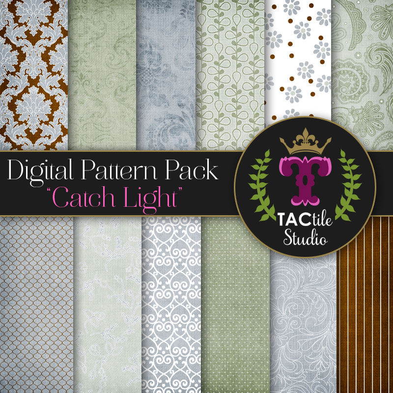 Catch Light Digital Paper Pack
