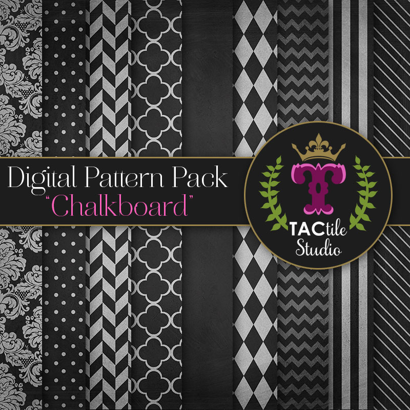 Chalkboard Digital Paper Pack
