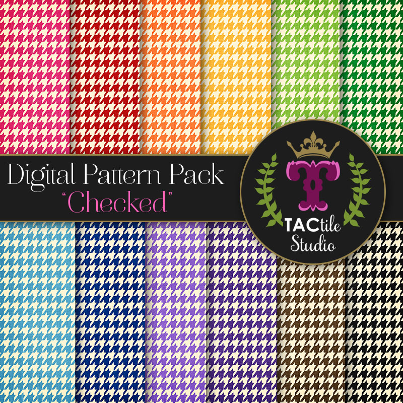 Checked Digital Paper Pack