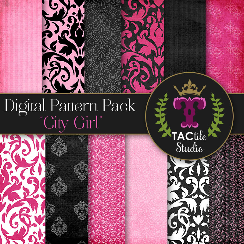 City Girl Digital Paper Pack