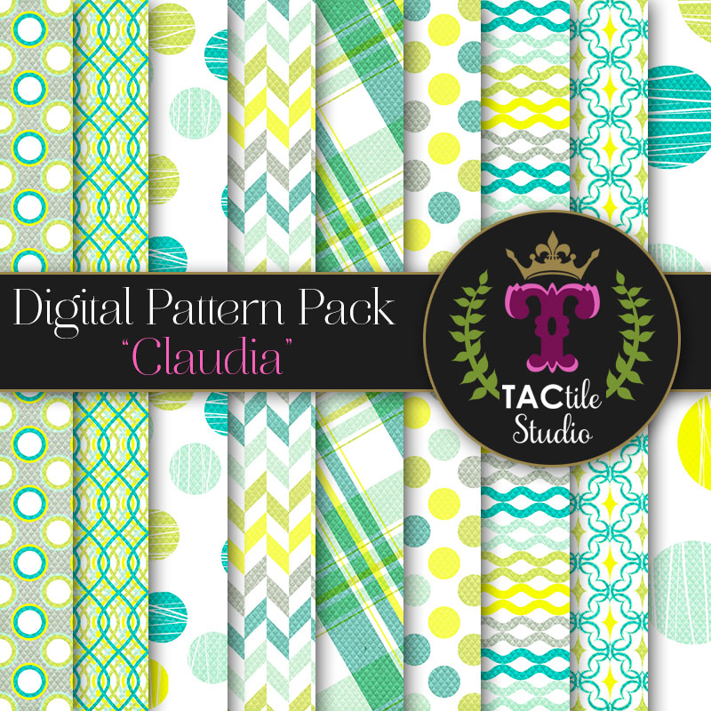 Claudia Digital Paper Pack