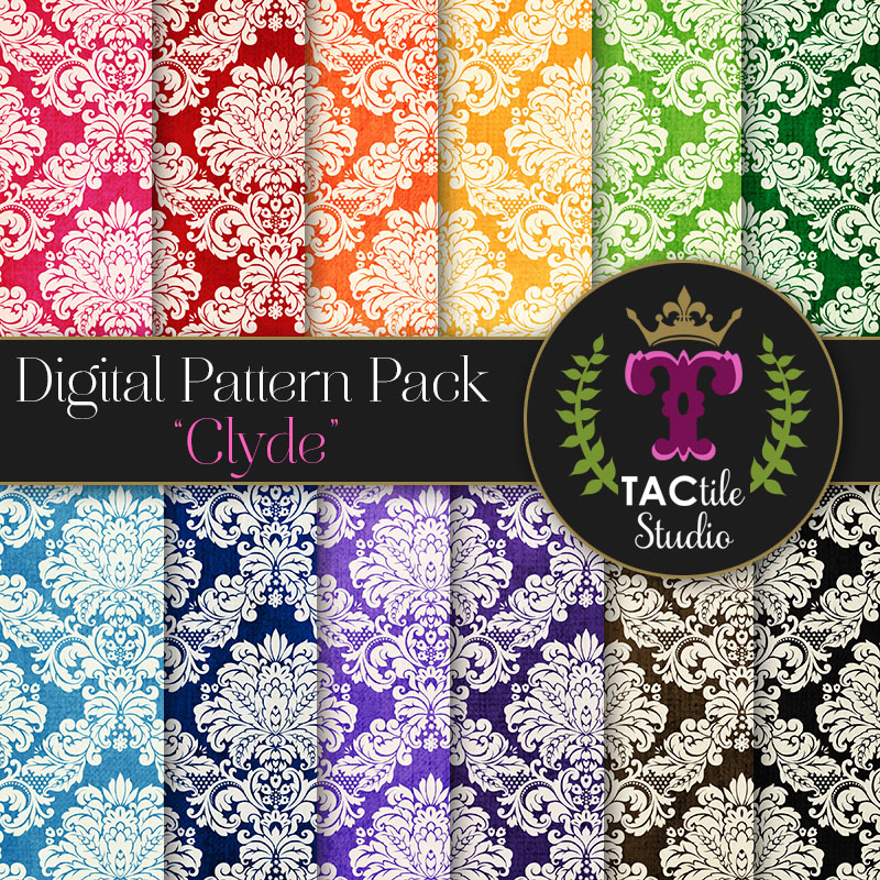 Clyde Digital Paper Pack