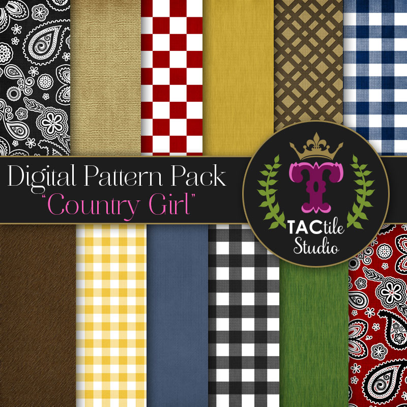 Country Girl Digital Paper Pack