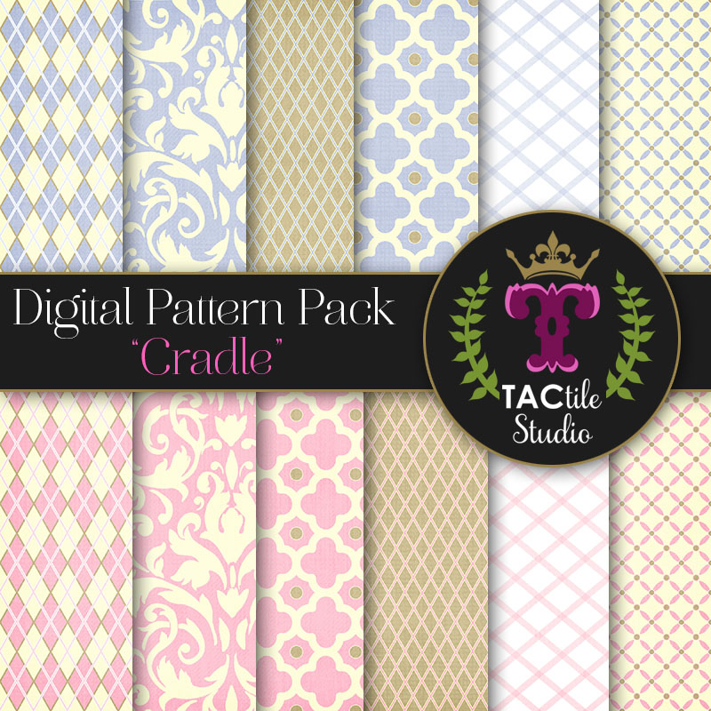 Cradle Digital Paper Pack