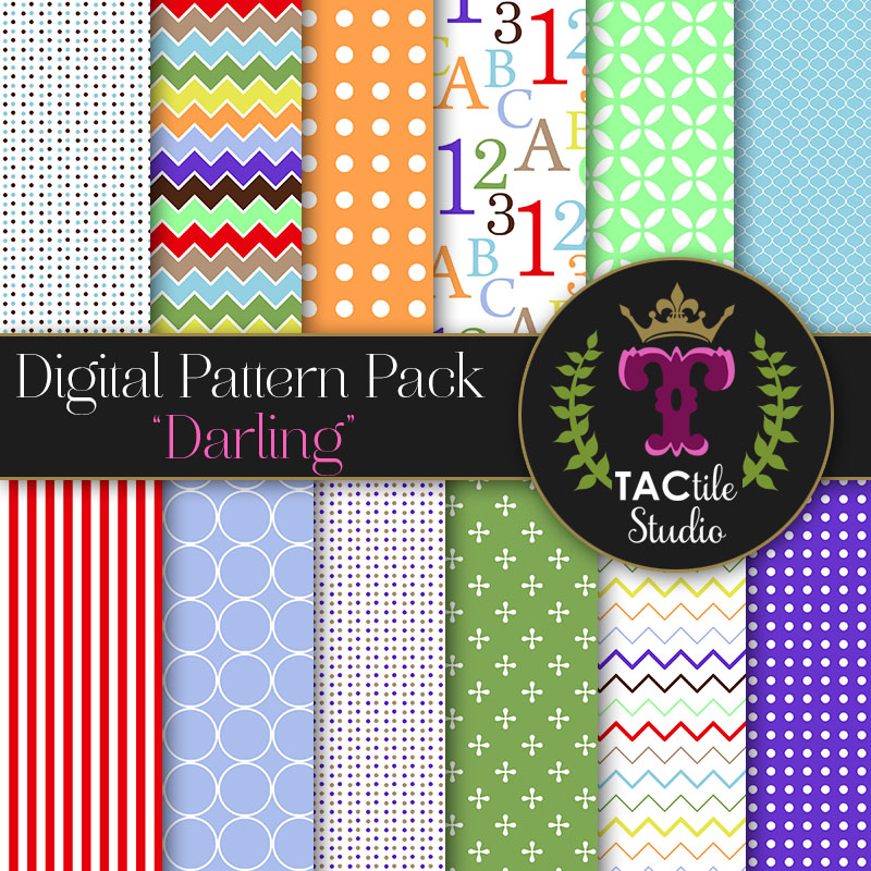 Darling Digital Paper Pack
