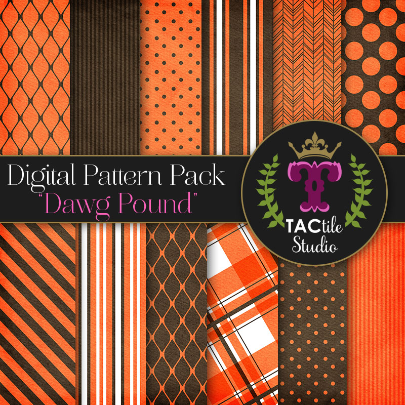 Dawg Pound Digital Paper Pack