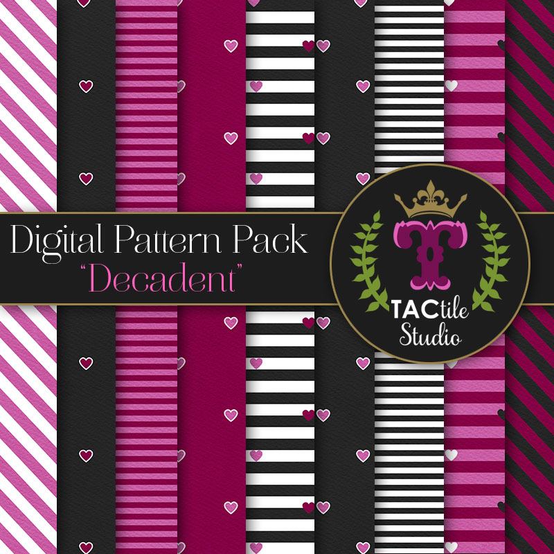 Decadent Digital Paper Pack