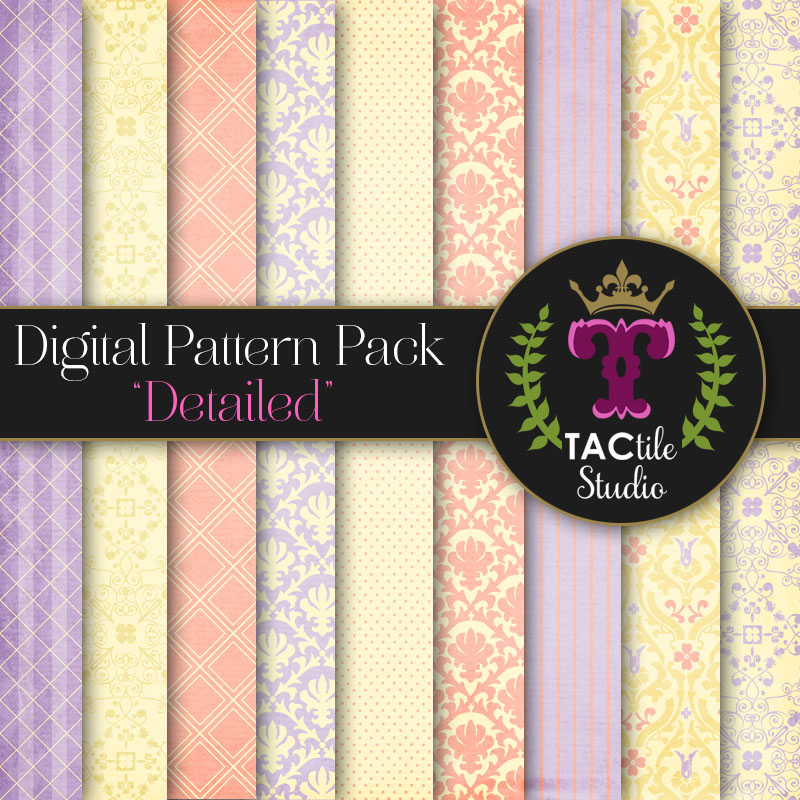 Detailed Digital Paper Pack