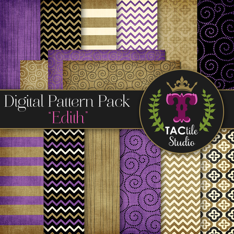 Edith Digital Paper Pack