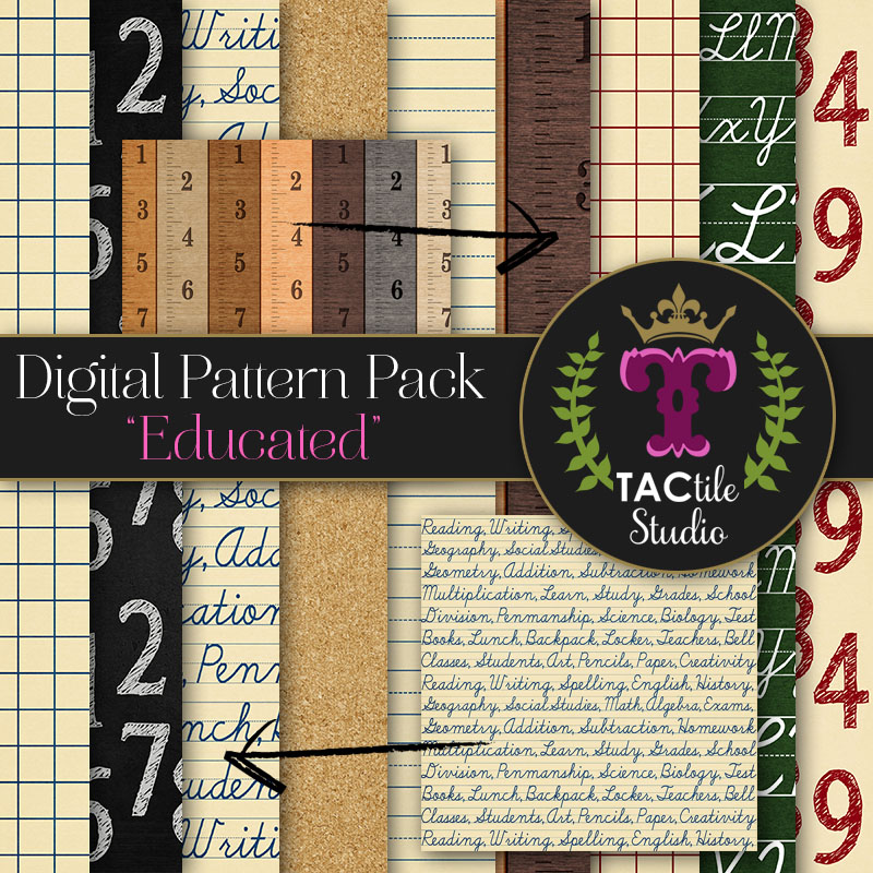 Educated Digital Paper Pack
