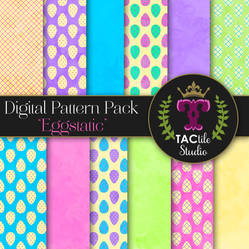Eggstatic Digital Paper Pack