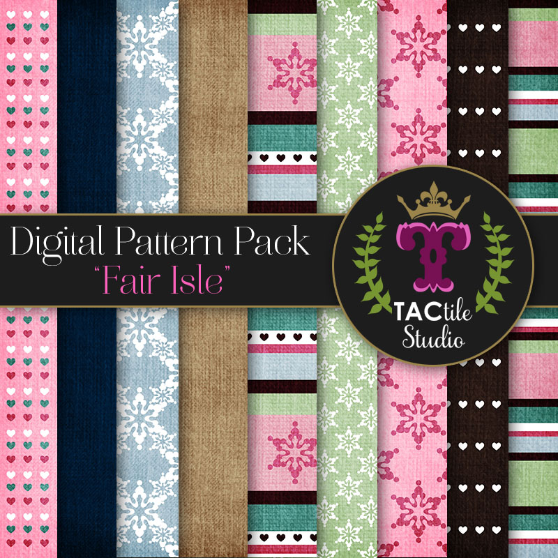 Fair Isle Digital Paper Pack
