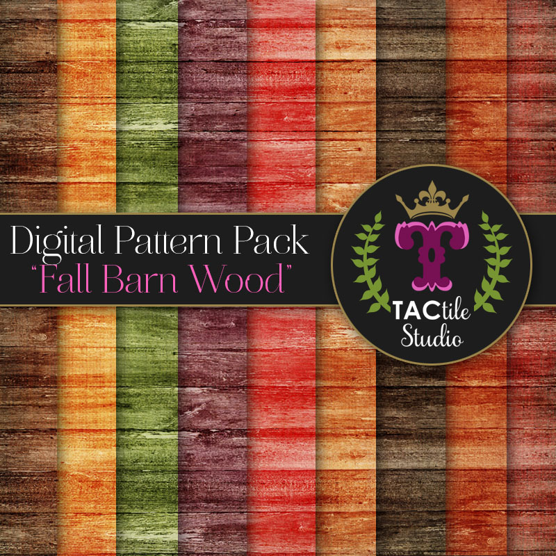 Fall Barn Wood Digital Paper Pack