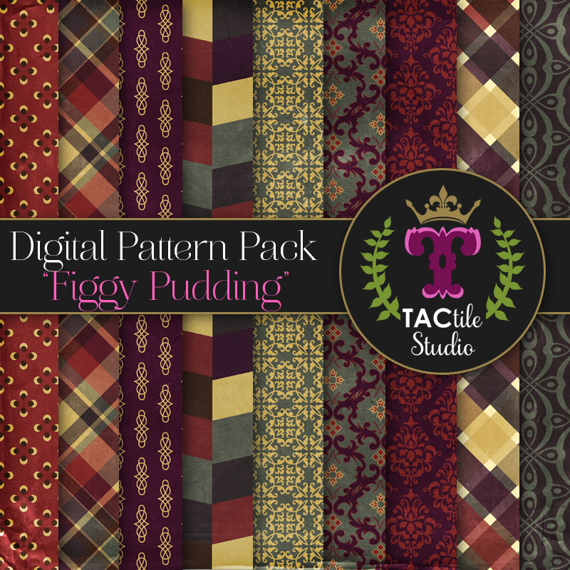 Figgy Pudding Digital Paper Pack
