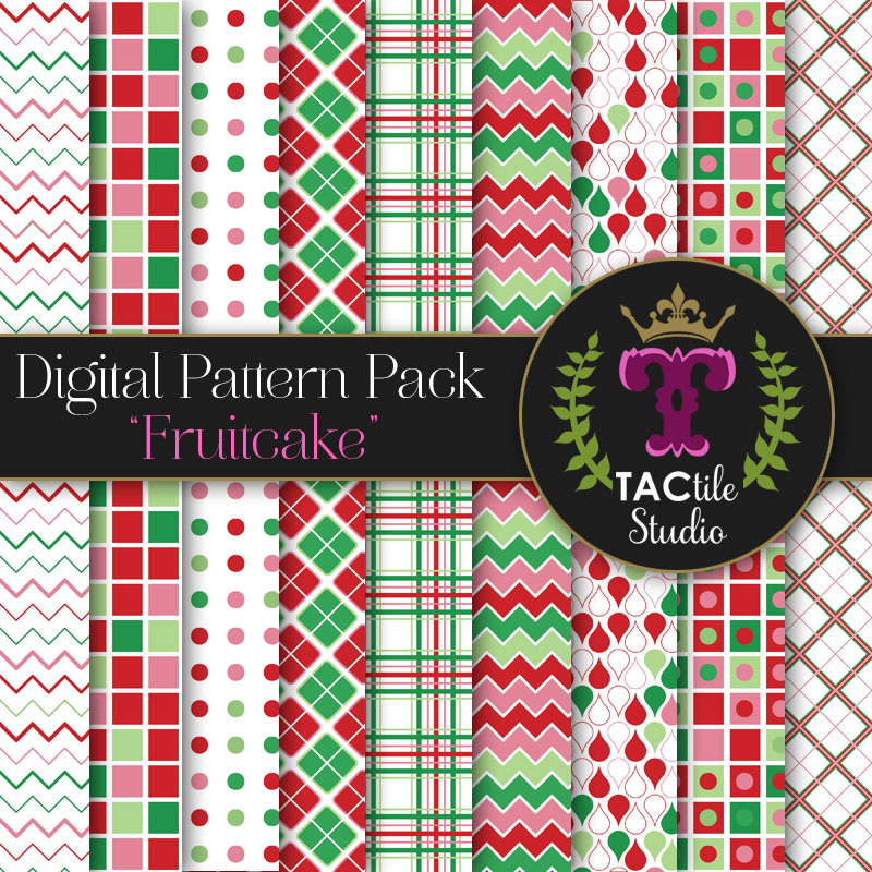 Fruitcake Digital Paper Pack