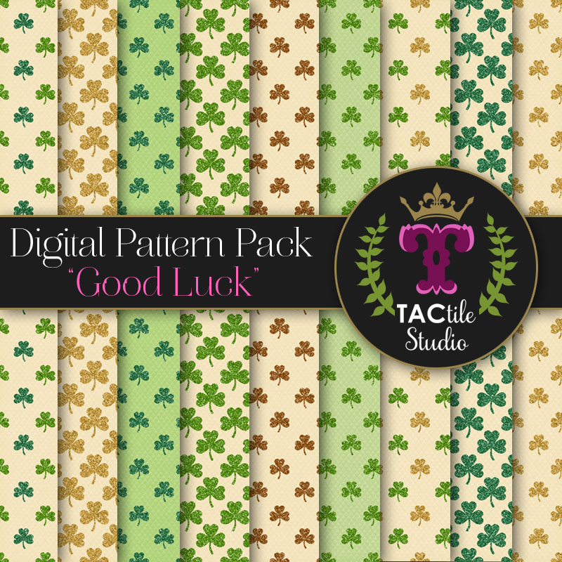 Good Luck Digital Paper Pack