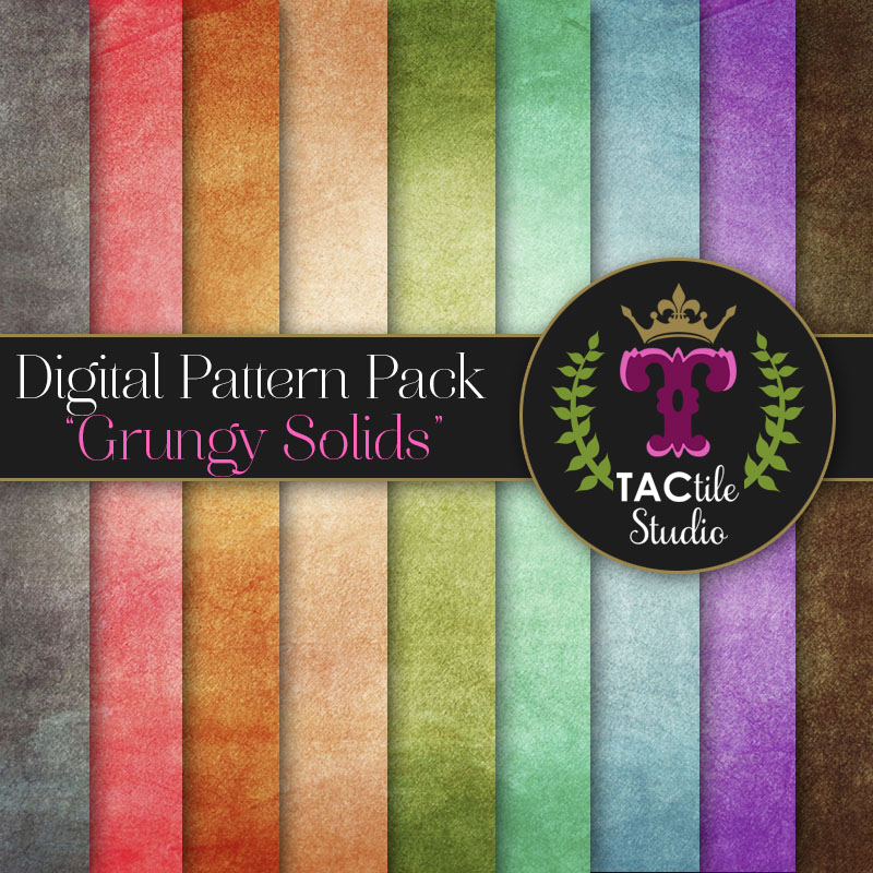 Grungy Solids Digital Paper Pack