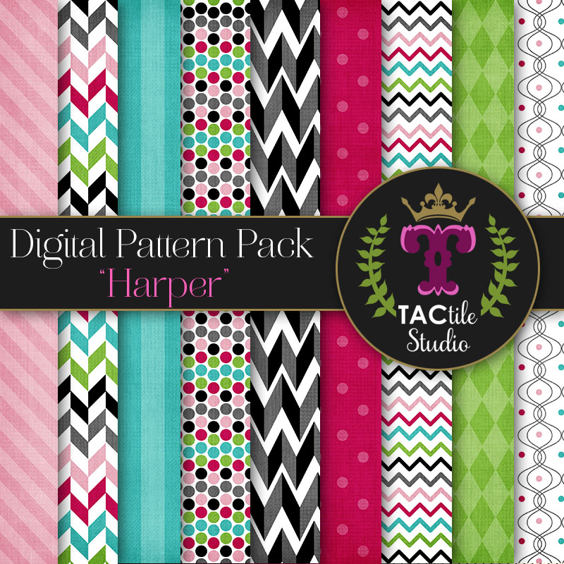Harper Digital Paper Pack