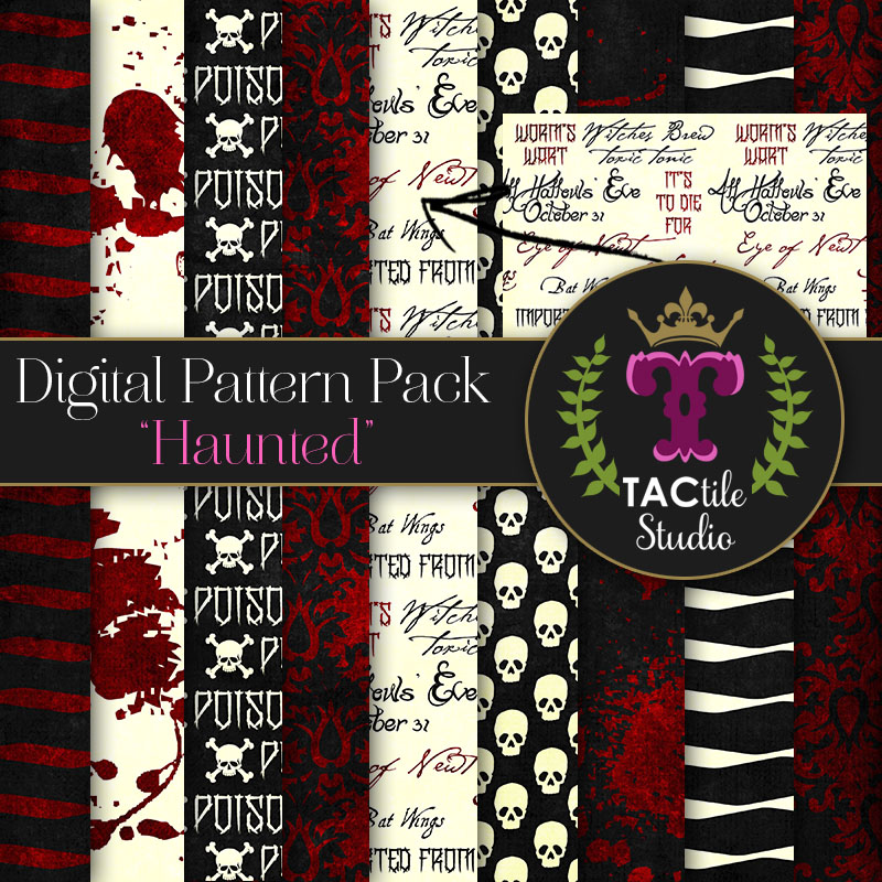 Haunted Digital Paper Pack