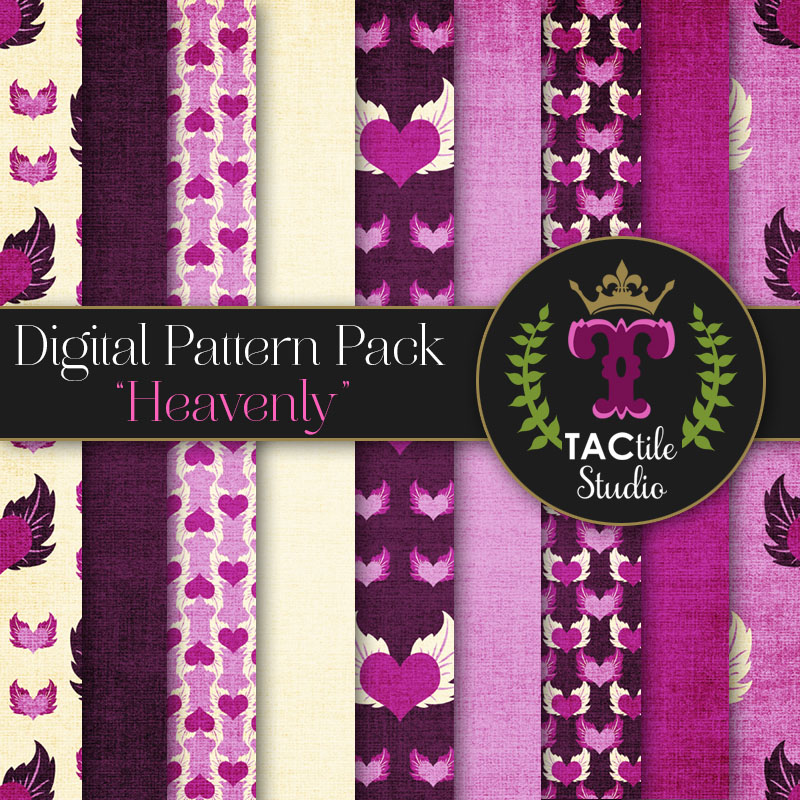 Heavenly Digital Paper Pack