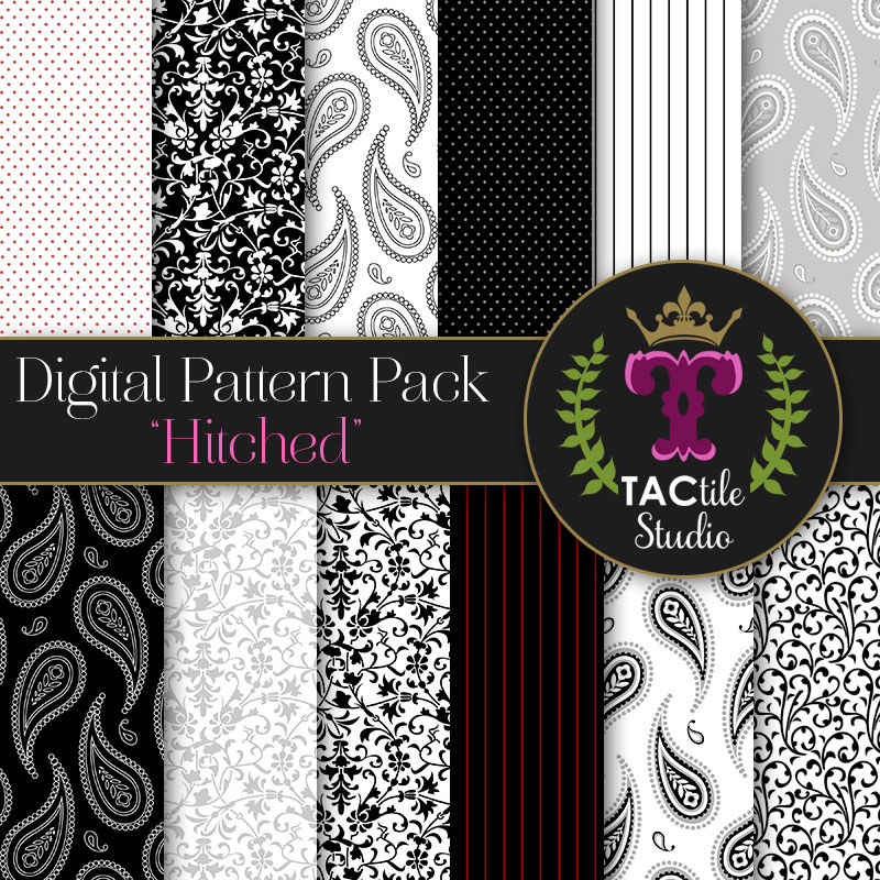 Hitched Digital Paper Pack