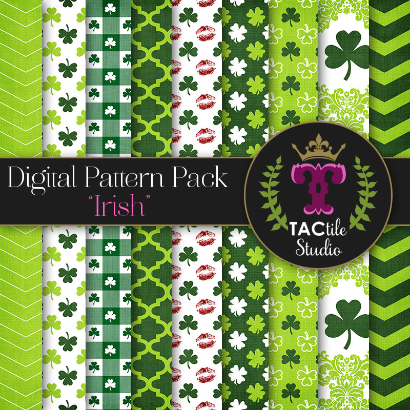 Irish Digital Paper Pack