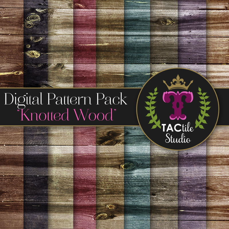 Knotted Wood Digital Paper Pack