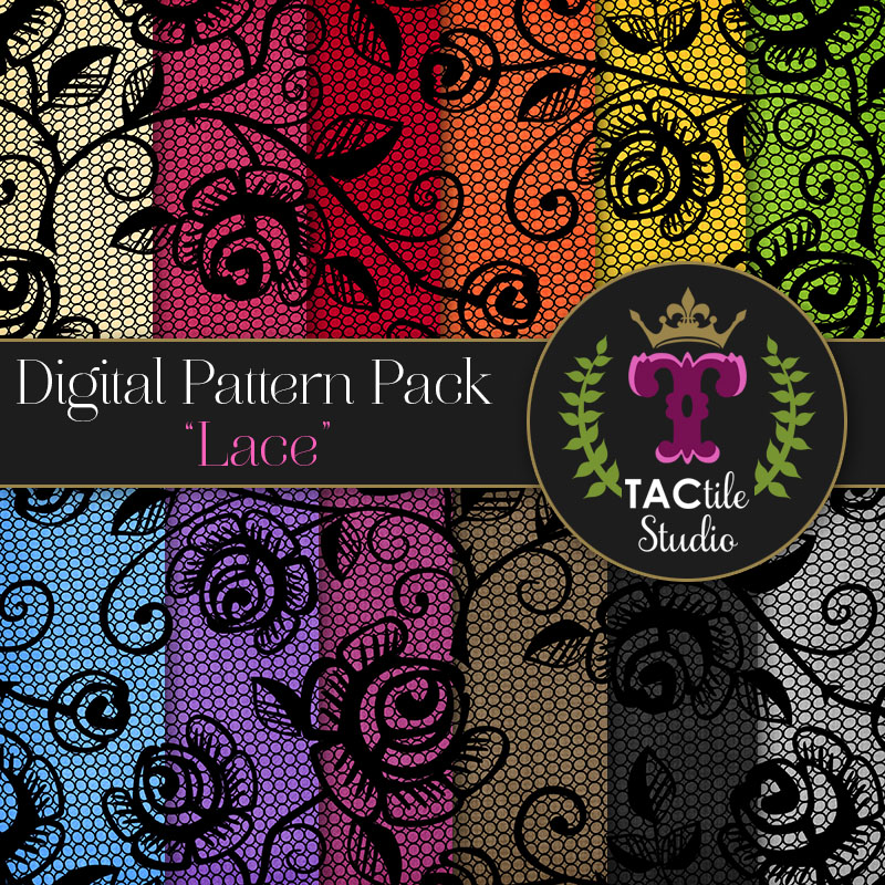 Lace Digital Paper Pack