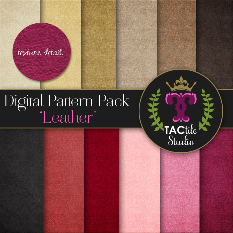 Leather Digital Paper Pack