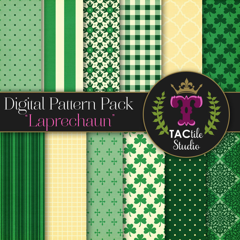 Leprechaun Digital Paper Pack